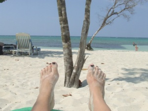 sand toes in cuba